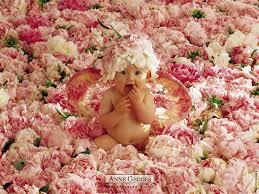 baby flowers baby is sitting around flowers