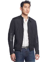 mens leather moto jacket michael kors quilted leather moto jacket in black for men lyst