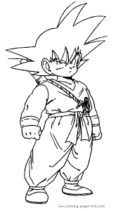 dragon ball z pictures to print and color gouko dragon ball z