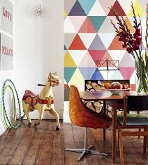 10 modern dining rooms with geometric wallpaper rilane