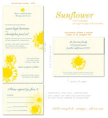 Sunflower Wedding Programs Sunflower Wedding Invitations Le Roi Soleil
