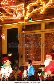 Christmas Decorations For Outside Uk by Christmas Lights Decorations Outside House Stock Photos