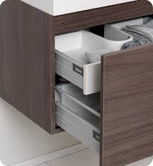 Modern Bathroom Vanities And Cabinets 23 5 U201d Fresca Nano Fvn8006go Gray Oak Modern Bathroom Vanity W