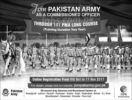 join pak army as commissioned officer u0027s 141 pma long course 2017 2018