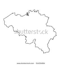 belgium map outline belgium country map outline vector stock vector 716649031