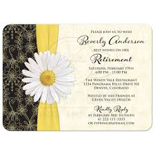 black and yellow ribbon retirement party invitation black gold ivory