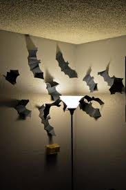 halloween decor paper bat swarm revamperate