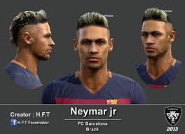 pes 2013 hairstyle pes 2013 neymar face and gold hair by h f t pes patch