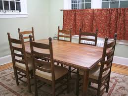 Cherry Wood Dining Room Furniture Cherry Wood Refinish Dining Room Table Wooden Refinish Dining