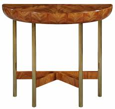 rex limited edition art deco style demi lune console table
