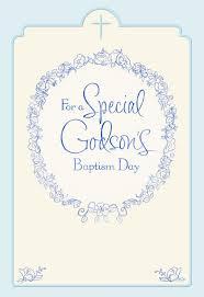 floral wreath godson baptism card for parents greeting cards