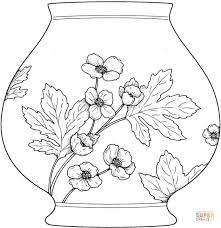 vase coloring free printable coloring pages