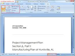 microsoft word publishing layout view microsoft word view tab tutorial it computer training