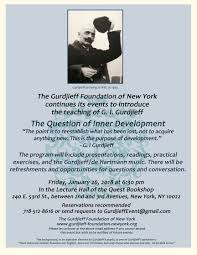New York City 2017 Event Calendar The Gurdjieff Foundation Of New York Events