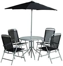 patio table with 4 chairs cb imports 4 seater metal patio furniture set including parasol