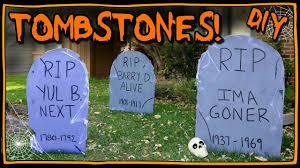 how to make tombstones easy halloween diy youtube