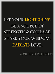 Let The Light Shine Let Your Light Radiate Love Day 30 Lent Journey Thorn In My Heart