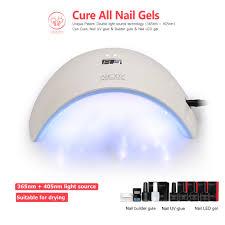 abody 24w led nail curing lamp uv gel dryer light timer for salon