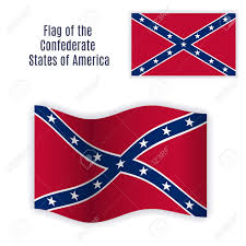 Flag Confederate Flag Of The Confederate States Of America With Correct Color