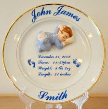 birth plates personalized baby plate with 3d ceramic sleeping baby birth keepsake