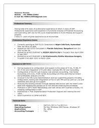 sap bi resume sample sap fico sample resumes