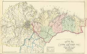 maryland map by county outline arundel co atlas of fifteen around baltimore