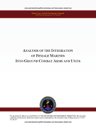 marine corps analysis of female integration united states marine