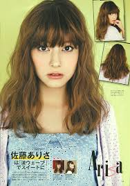 non hairstyles model arisa sato japanese girls fashion magazine non no
