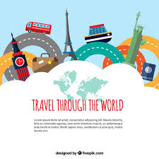 how to travel the world for free images Travel through the world vector free download jpg