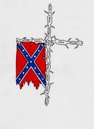 rebel flag on barbed wire cross by inkedsoulsdesigns on deviantart
