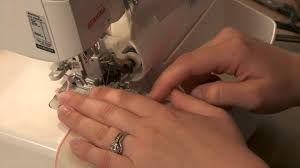 serger sewing techniques how to make a rolled hem napkin youtube
