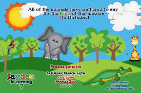 zoo birthday party invitations zoo animal party themed invitation