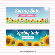 sunflowers for sale sale banners with sunflowers vector free