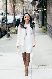 dresses with boots winter white the view from 5 ft 2
