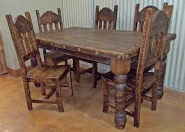 Rustic Dining Table And Chairs Rustic Dining Table Set Dining Sets The Rustic Mile Tables Fiin Info