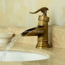 aliexpress com buy antique brass finish deck mount basin mixer