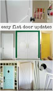 Adding Trim To Plain Cabinets by Remodelaholic 40 Ways To Update Flat Doors And Bifold Doors