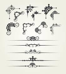 borderline ornaments and corners retro vector vector ornament
