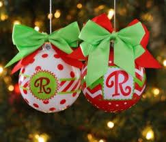 monogrammed ornaments at kirklands