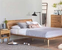 mid century modern bedroom ideas modern natural oak wood platform