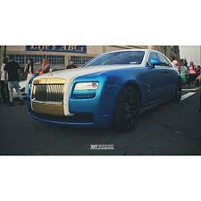 royal teal blue matte pearl rolls royce ghost chrome wrapped