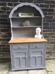rustic industrial shabby chic painted welsh dutch dresser annie