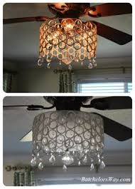 Ceiling Fan Lighting Fixtures Add A Drum Shade To Your Ceiling Fan In 5 Minutes Drum Shade