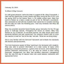 letter of recommendation templates bio example