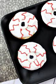 creepy halloween bloodshot monster eyeball doughnuts
