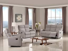 Cloth Reclining Sofa Reclining 3 Pc Sofa Set Fabric Code K30 Light Grey