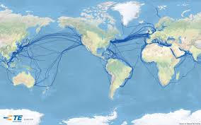 Flat Map Of World by Undersea Cables On A Flat Earth Metabunk