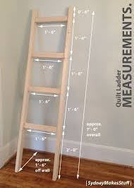 Leaning Shelves Woodworking Plans by Diy Quilt Ladder Quilt Ladder Woodworking And Craft