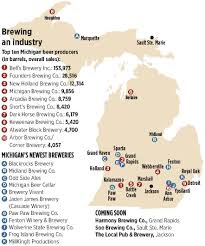 Map Of The State Of Michigan by The State Of Craft Beer In Michigan