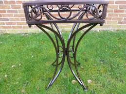 Outdoor Metal Side Table Garden And Indoor Furniture Bronze Metal Side Table Perfect As A